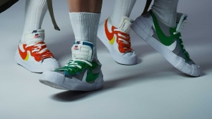 Nike and sacai are collaborating on a collection of Blazer Low sneakers