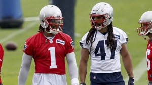 Belichick: Newton not practicing, but fine after hand injury