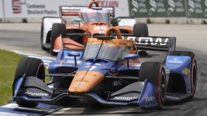 Rosenqvist in hospital after crash into wall in Detroit