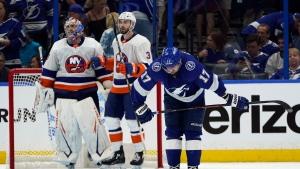 Islanders shut down defending champion Lightning in Game 1