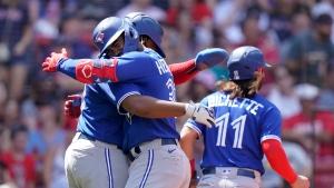 Blue Jays belt eight home runs, pound Red Sox