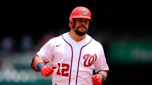 Schwarber hits 2 HRs, Ross dominant as Nats beat Giants