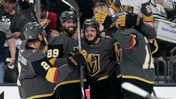 Golden Knights flex muscles, roll past Habs in Game 1