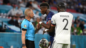 Rüdiger regrets putting mouth on Pogba's back
