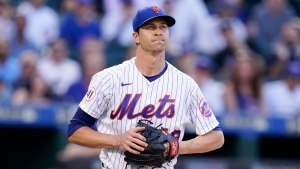 Mets ace deGrom out until September with right forearm inflammation