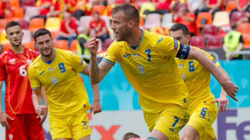 First-half goals help Ukraine edge North Macedonia