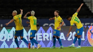 Brazil beats Peru to move into first in Copa America group