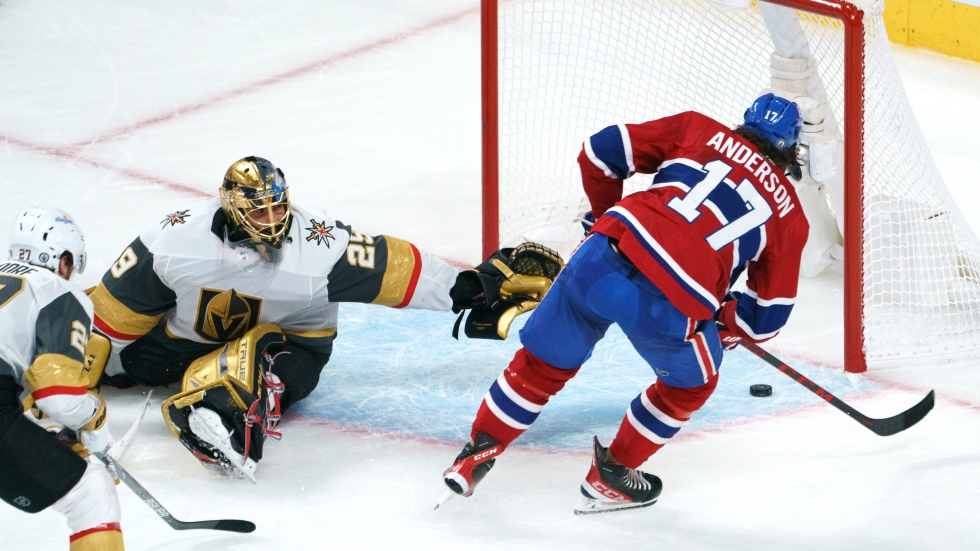 Anderson scores OT winner as Canadiens take series lead over Golden Knights