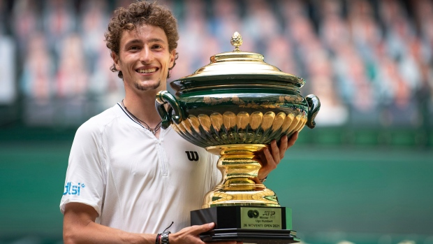 Humbert beats Rublev to win Halle Open final