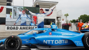 Palou wins at Road America after Newgarden's apparent mechanical problems