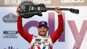 Larson wins at NASCAR's Nashville Superspeedway