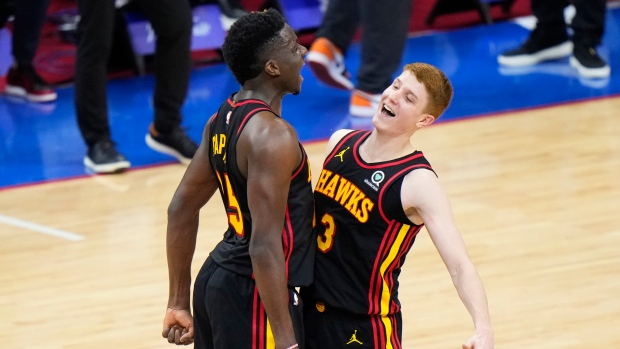 Hawks upset 76ers in Game 7, move on to ECF