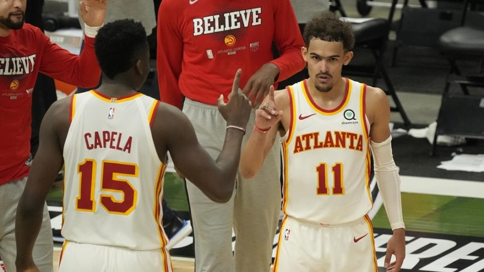 Young's 48 points lead Hawks past Bucks in Game 1