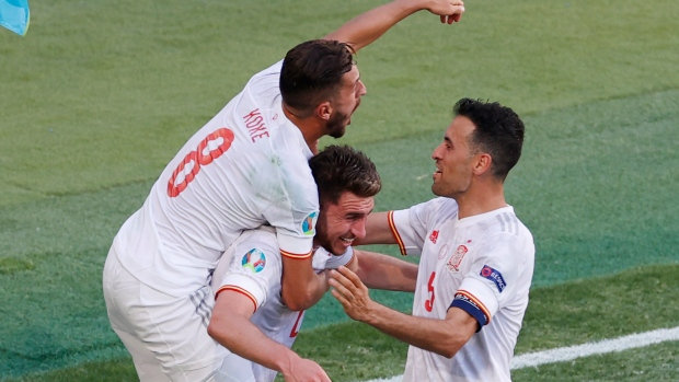 Busquets proves key as Spain gets back on track at Euro 2020