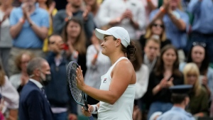 Top-ranked Barty moves on a Wimbledon