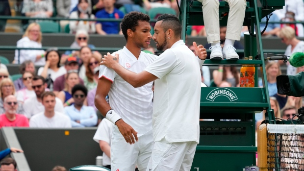Auger-Aliassime advances to Round of 16 after Kyrgios retires