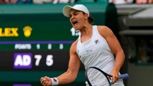 Barty beats Kerber to reach first Wimbledon final against Pliskova