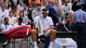 Federer bounced in Wimbledon quarters; Hurkacz advances