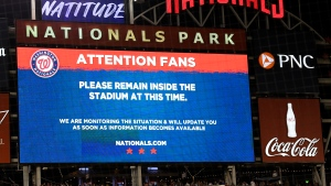 Padres-Nats game suspended after reported shooting outside park