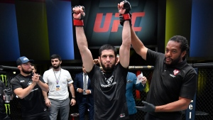 Makhachev submits Moises in fourth round of UFC main event
