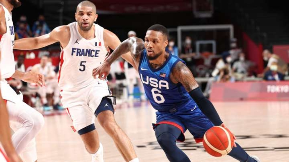Team USA falls to France in men's basketball