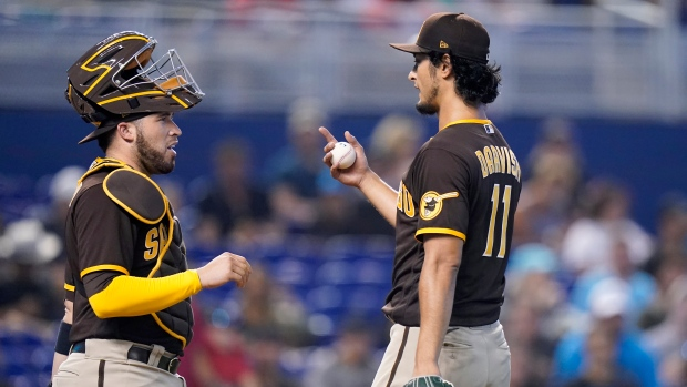 Another rough outing for Darvish as Padres lose to Marlins