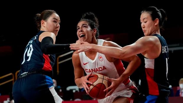 Canadian women's basketball team beats South Korea to even record