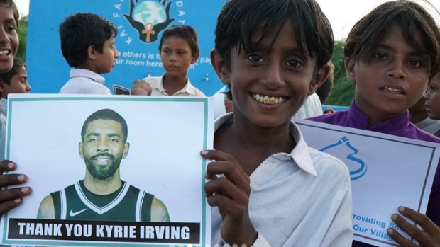 Kyrie Irving built a water centre for over 1000 villagers in Pakistan
