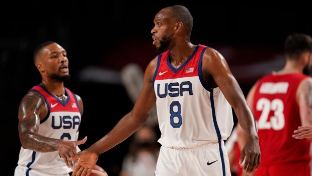 US trio puts NBA Finals behind, turns focus to Olympic gold