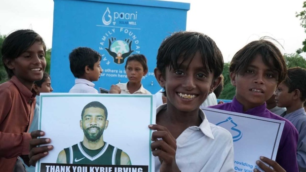 Kyrie Irving and his foundation helped build a solar water center in Pakistan