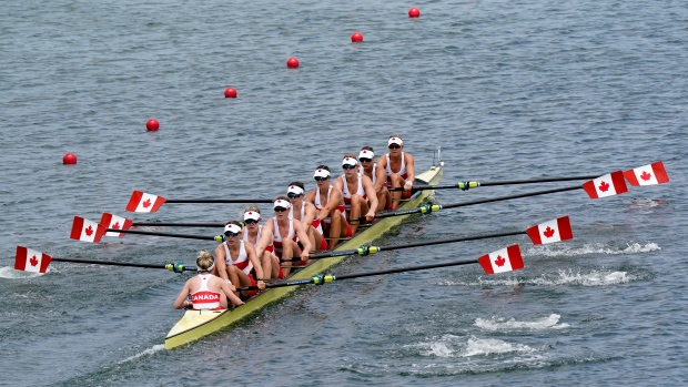 Canada wins gold in women's eight rowing
