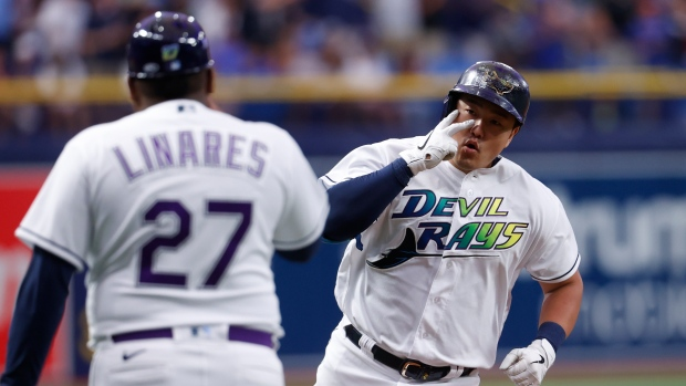 Rays move into 1st in AL East with victory over Red Sox