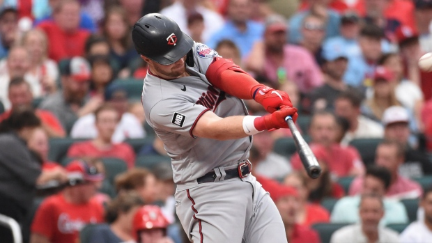 Jeffers homers again, Twins rout Cardinals