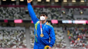Chopra wins India's first gold in Olympic track and field