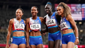 Felix's 11th Olympic medal comes in 4x400 relay