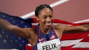 'I feel at peace': Felix exits stage with record 11th medal