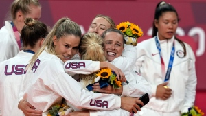 U.S. wins first Olympic women's volleyball gold