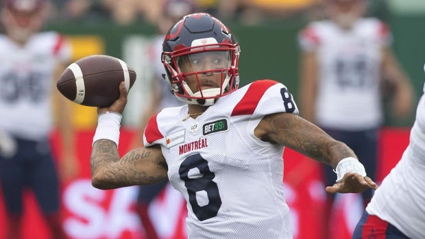 CFL Inside the Numbers: Expect Adams, Alouettes to bounce back in Ottawa