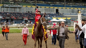 Robert Geller on the Queen's Plate, having fans in attendance and race favourites