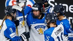 Finland downs Switzerland for bronze at women's worlds