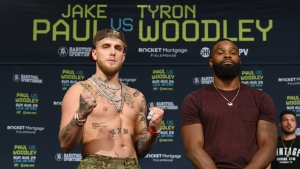 Paul, Woodley make weight for Sunday's fight with no shenanigans