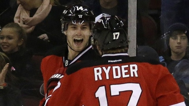 Adam Henrique and Michael Ryder