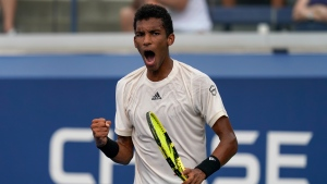 Auger-Aliassime outlasts Donskoy to advance to US Open second round