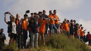 Verstappen fans turn a seaside town orange for Dutch GP