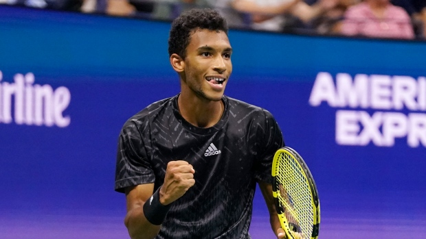 Auger-Aliassime reaches US Open quarters for first time