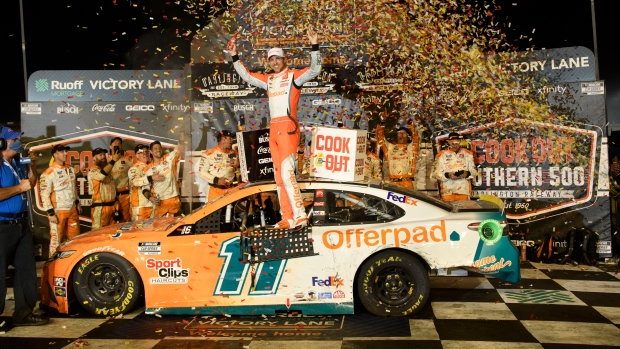 Hamlin ends winless season at Southern 500 to open playoffs
