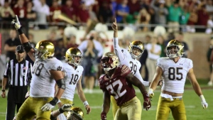 No. 9 Notre Dame escapes with OT victory Florida State