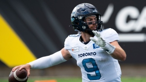Argonauts send QB Arbuckle to Elks for pick, rights to Kelly