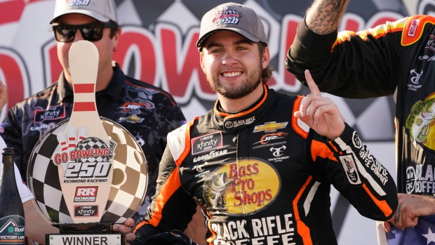 Gragson holds off Haley for emotional Xfinity win at Richmond