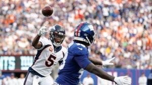 Bridgewater throws two touchdowns, Broncos dominate Giants